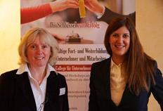"""Brunhilde Fischer, Geschäftsführerin Unternehmermanufaktur (l.), Vanessa Borkmann, Leiterin """"Futurehotel"""" Fraunhofer Institut IAO"""