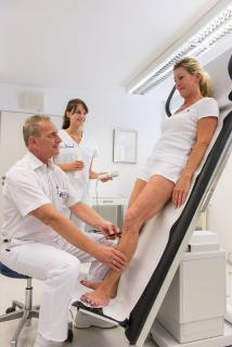 Untersuchung mittels Ultraschall-Doppler-Sonographie