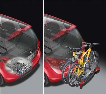 Opel bietet für über 130 verschiedene Modellvarianten des Corsa, Astra, Meriva und Antara die perfekte Lösung: Das einzigartige, integrierte Fahrradträger-System FlexFix. Das innovative System ist platzsparend und fast unsichtbar in den hinteren Stoßfänger integriert. Der Flex-Fix-Fahrradträger umfasst eine Reihe von innovativen und zum Patent angemeldeten oder patentierten Lösungen. Der integrierte Fahrradträger wird wie eine Schublade aus dem hinteren Stoßfänger herausgezogen.