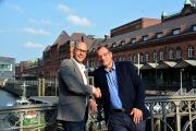 Thomas Neef, GF praxis PLUS award GmbH und Axel Link, GF health tv