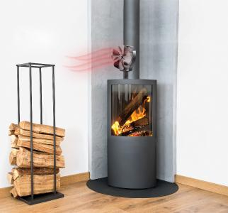 Carlo Milano Stromloser Kaminofen-Ventilator mit 40°-Oszillation, für 70 - 350 °C