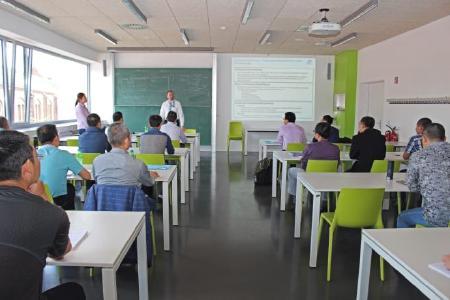 Prof. Thomas Masurat beim Workshop für chinesische Technologiemanager (© TH Wildau / Bernd Schlütter)