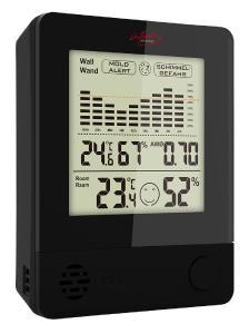 infactory 2in1-Thermometer & Hygrometer, Raum- und Wand-Messung, Schimmel-Alarm