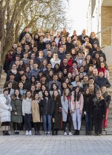 Aus Ländern wie Mexiko, China und Tunesien sind die 84 Teilnehmerinnen und Teilnehmer des Wintersprachkurses angereist, um an der Hochschule Osnabrück Deutsch zu lernen / Foto: Hochschule Osnabrück/Christa Henke