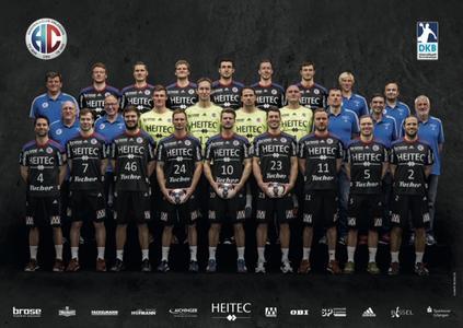 Das aktuelle Mannschaftsbild HC Erlangen 2015 (Foto: hl-studios, Erlangen)