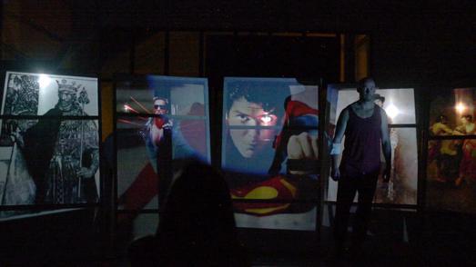 Philotas in Schlingen, Foto: Theater zwischen den Künsten, 2014