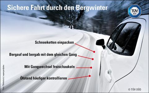 Fahrt über verschneite Bergstraßen – vier Tipps, die helfen