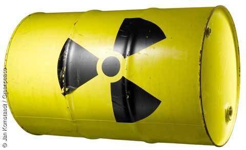 Symbolbild Atommüll. Aufgenommen am: 07.05.2009. Copyright: © Jan Kornstaedt / Greenpeace