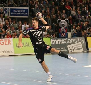 HC-Topscorer: Ole Rahmel, zweiter der Torschützenliste der Liga (Foto: hl-studios, Erlangen)
