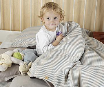 TrueStuff Biobettwäsche für Kinder in kbA Baumwolle - Dessin Sweden Blue/Brown