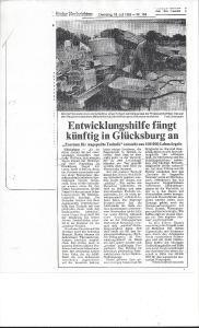 Artikel 1989 Kieler ANchrichten / Bild: Werner Kiwitt