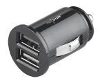 revolt Kompaktes Kfz-USB-Ladegerät mit 2 Lade-Ports, 4,8 A, 12/24 Volt, 24 Watt