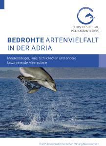 """Titel der Broschüre  """"Bedrohte Artenvielfalt in der Adria""""."""
