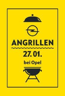 Publikumsmagnet: Am Samstag, 27. Januar, findet traditionsgemäß wieder das Angrillen bei Opel statt. Als heißer Newcomer steht der Opel Grandland X bei den Händlern bereit