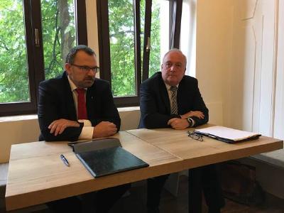 vl: Klaus-Peter Hansen, VG der RD Sachsen der BA und Andreas Werner, Verbandsdirektor KSV