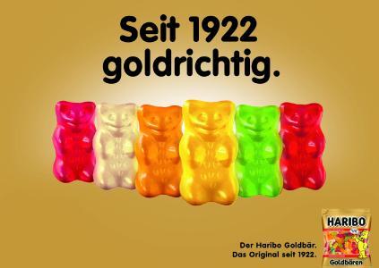 HARIBO Plakatkampagne: Goldige Unterstützung