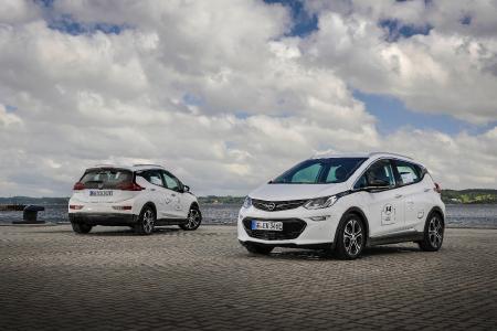 Im Rallye-Fieber: Der Opel Ampera-e nahm am vergangenen Wochenende an der 8. Nordeuropäischen E-Mobil Rallye teil. Am 6. und 7. Juli startet der Stromer dann zur Silvretta E-Auto Rallye