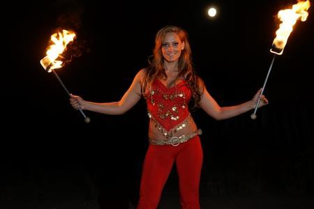 Feuershow-Angelina