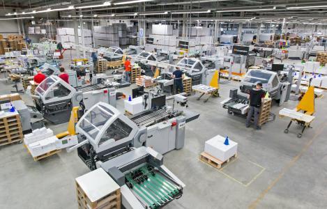 Blick in die Onlineprinters-Produktion (Copyright: Onlineprinters Produktions GmbH)