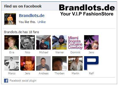 Brandlots, Facebook,Twitter, Dsquared,edhardy