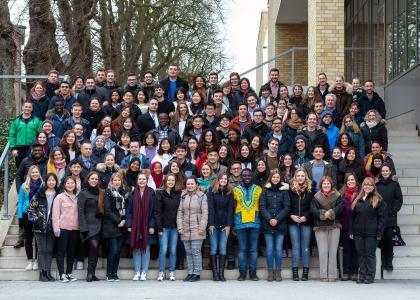 Rund 100 Studierende aus aller Welt beim Wintersprachkurs an der Hochschule Osnabrück / Foto: C. Henke