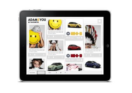 Sozial App: Teile Deine ADAM-Konfiguration mit anderen. ADAM&YOU kann kostenlos im iTunes Store heruntergeladen werden  © GM Company