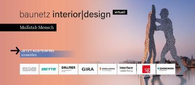 """baunetz interior design virtuell 8. und 9. Juni - """"Maßstab Mensch"""""""