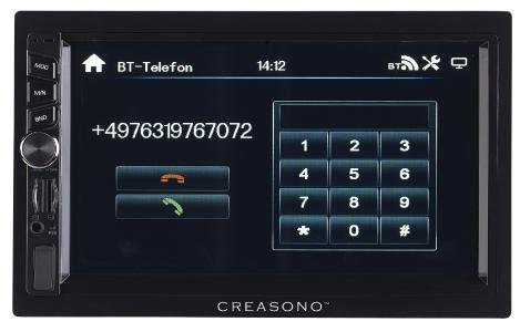 PX 2336 11 Creasono 2 DIN MP3 Autoradio mit Touchdisplay. Bluetooth und Freisprecher