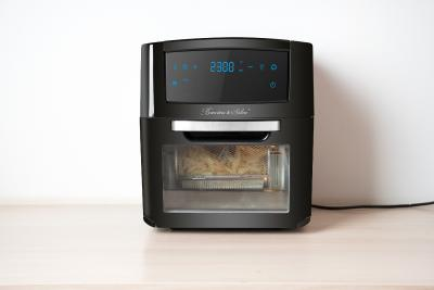 Rosenstein & Söhne Digitale XXL-Heißluft-Fritteuse & Mini-Umluft-Ofen HF-400, 18 Programme, 12 Liter