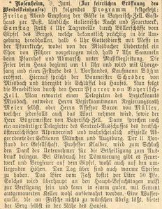 125 Jahre Wendelsteinhaus - Festgottesdienst am So, 13. Juli