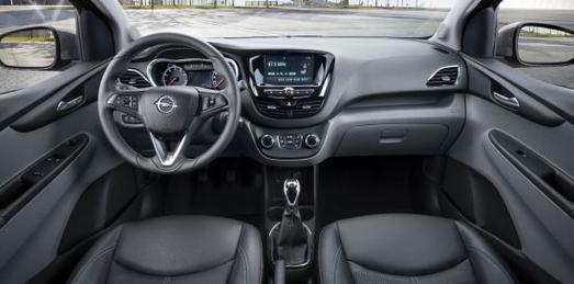 Mit Wohlfühl-Garantie: Das Interieur des neuen Opel KARL ist geräumig und überzeugt mit hoher Materialqualität, © GM Company