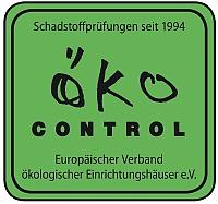 Dieses Logo tragen schadstoffgerüfte Schlaf-Möbel, Matratzen und Bettzeug.
