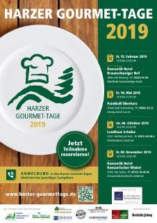 Plakat Harzer Gourmet-Tage 2019