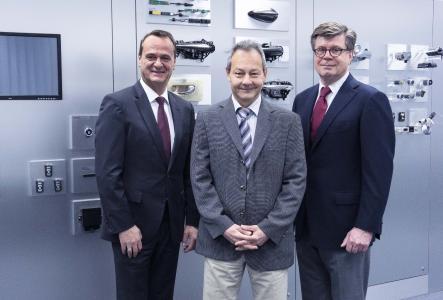The new management team: Michael Supe (COO Huf Group), Thomas Tomakidi (CEO Huf Group), Tom Graf (CFO Huf Group)