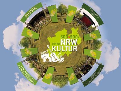 Alle Kunst- und Kultur-Interessierten können auf der neuen Webseite www.nrw-künstlervielfalt.de in einem 3D-Rundgang ein Festivalgelände virtuell erkunden