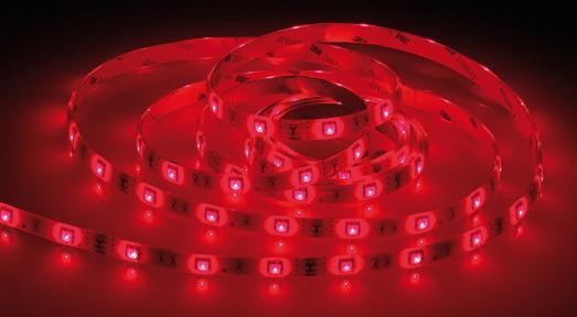 Luminea WLAN-LED-Streifen in RGB, 5 m, kompatibel zu Alexa Voice Service