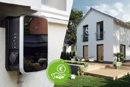 Wer an die Zukunft denkt, der plant eine Ladestation für E-Autos, auch Wallbox genannt, beim Hausbau mit ein!