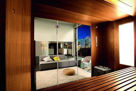die sauna der zukunft passt einfach berall klafs gmbh. Black Bedroom Furniture Sets. Home Design Ideas
