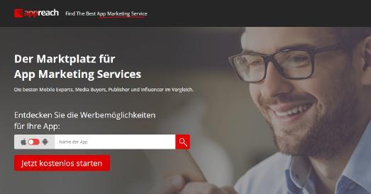 Marktplatz für App Marketing Services
