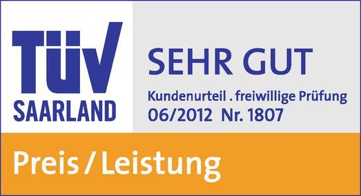 Auszeichnung des TÜV Saarland für ein herausragendes Preis-Leistungs-Verhältnis bei smartmobil.de