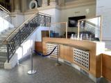 Kassenbereich mit installiertem Schutzbereich / (c) Landesmuseum Hannover