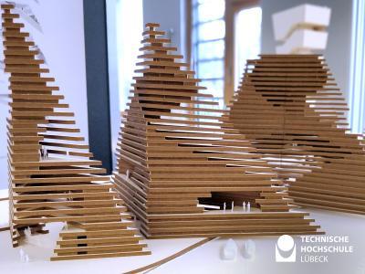 Modell einer Abschlussarbeit aus der Architektur (Foto:echnische Hochschule Lübeck)