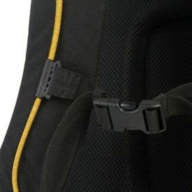 Laptop sleeve with built-in organiser, tough padded shoulder straps with slideable chest strap