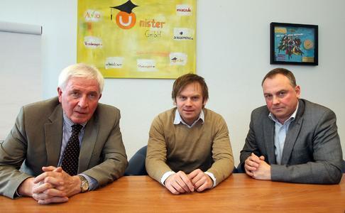von links: Dr. Thomas Giesen (Konzernbevollmächtigter für Datenschutz), Thomas Wagner (Gründer und Mitinhaber Unister), Frank Hillmer (Datenschutzbeauftragter von Unister)