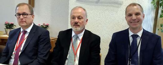 Vorstand der STA-Kirchenleitung in Nordrhein-Westfalen: Martin Knoll, Stefan Adam, Martin Peters (v.l.) / © Foto: Jens Mohr/APD