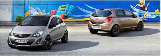 """Aufregend anders: Die """"Color Elegance""""-Versionen des Corsa sind in den Metallicfarben Karbongrau und Muskatgrau ein eleganter Blickfang. Schwarze Zierelemente sorgen für einen sportlichen Touch"""