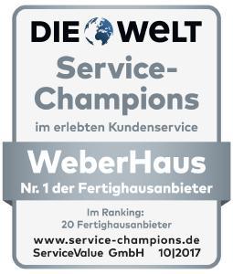 Auszeichnung ServiceChampions WeberHaus