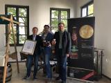 Frank Störzbach (Marketing Distelhäuser Brauerei), Frank Winkel (ProBier-Club.de), Christoph Ebers (Geschäftsführer Distelhäuser Brauerei)