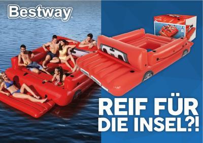 Die Badeinseln von Bestway® bieten Platz für bis zu 6 Personen.