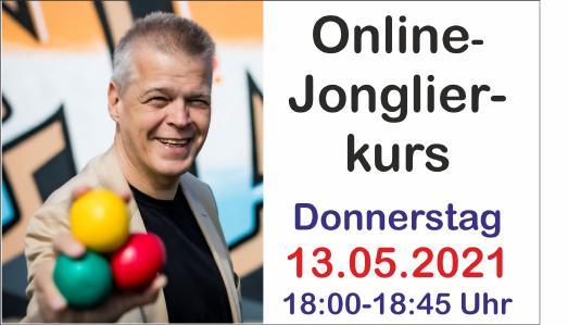 Online-Jonglierkurs am 13. Mai um 18 Uhr